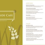 Cover and first page of menu redesign
